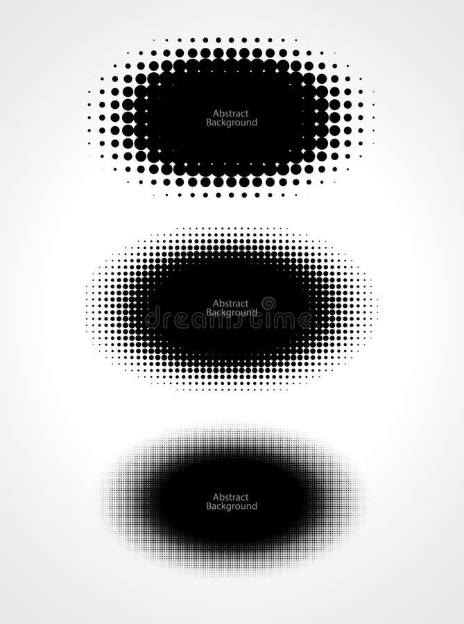 Abstracte halftone punten voor grungeachtergrond stock illustratie