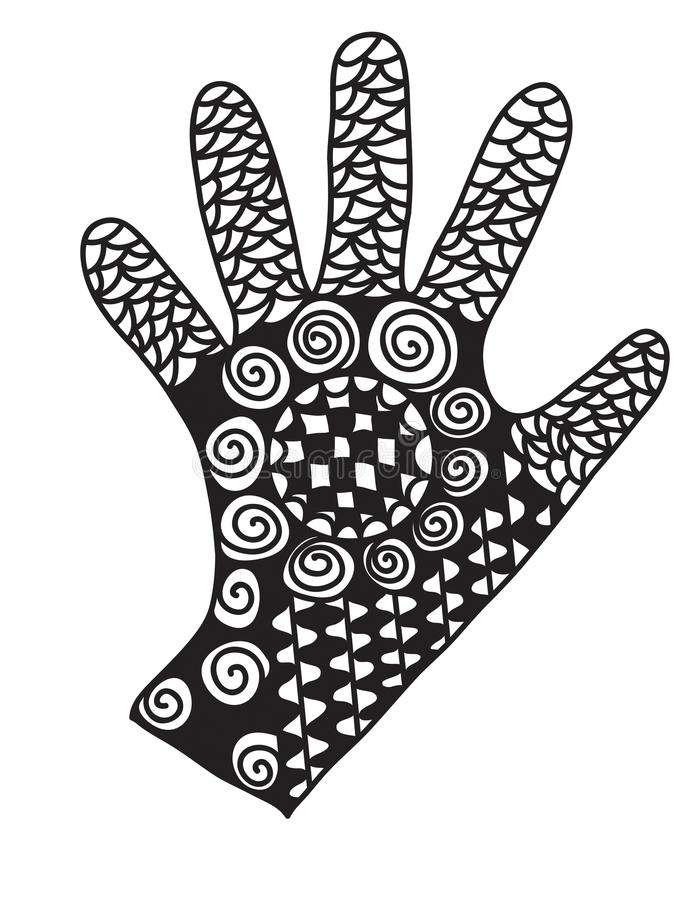 Abstracte Hand royalty-vrije stock foto