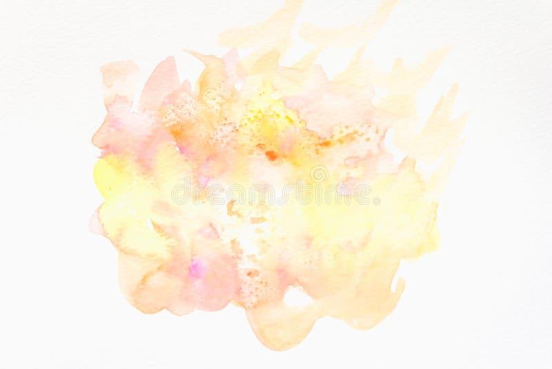 Abstracte hand geschilderde waterverfachtergrond op papier textuur voor creatief behang of ontwerpkunstwerk stock foto's
