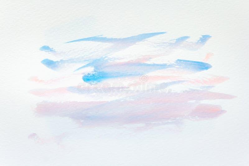Abstracte hand geschilderde waterverfachtergrond op papier textuur voor creatief behang of ontwerpkunstwerk stock afbeeldingen