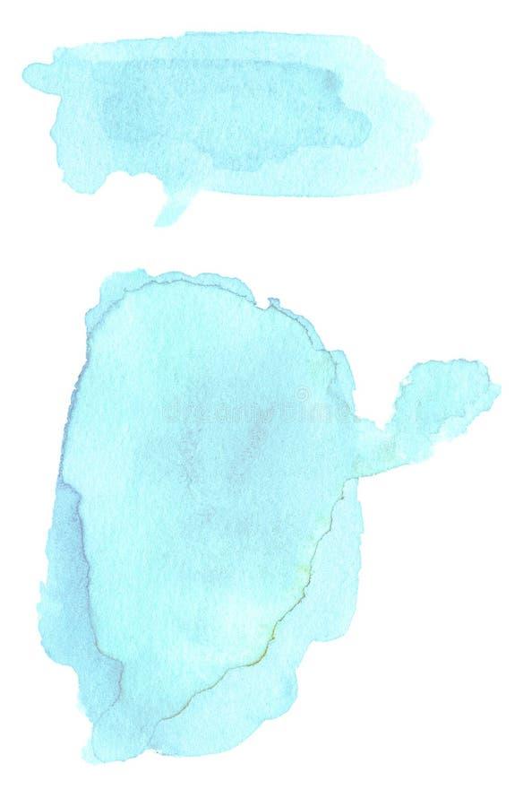 Abstracte hand getrokken waterverfachtergrond Abstracte inktvlek t stock illustratie