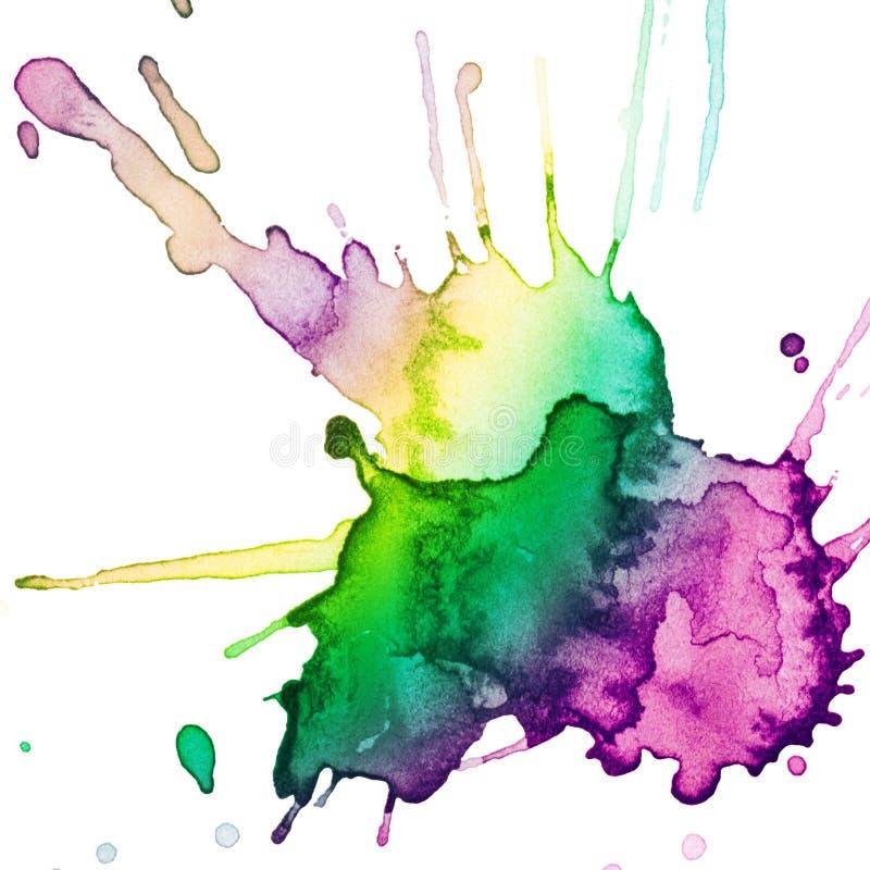 Abstracte hand getrokken waterverfvlek vector illustratie