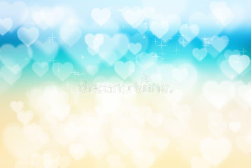 Abstracte hart bokeh heldere achtergrond stock illustratie