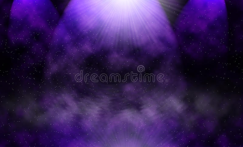Abstracte heelalachtergrond vector illustratie