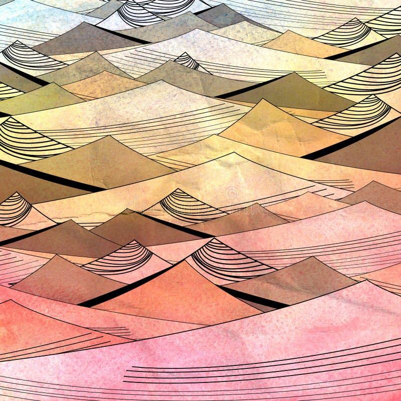 Abstracte heldere achtergrond met duinen royalty-vrije illustratie