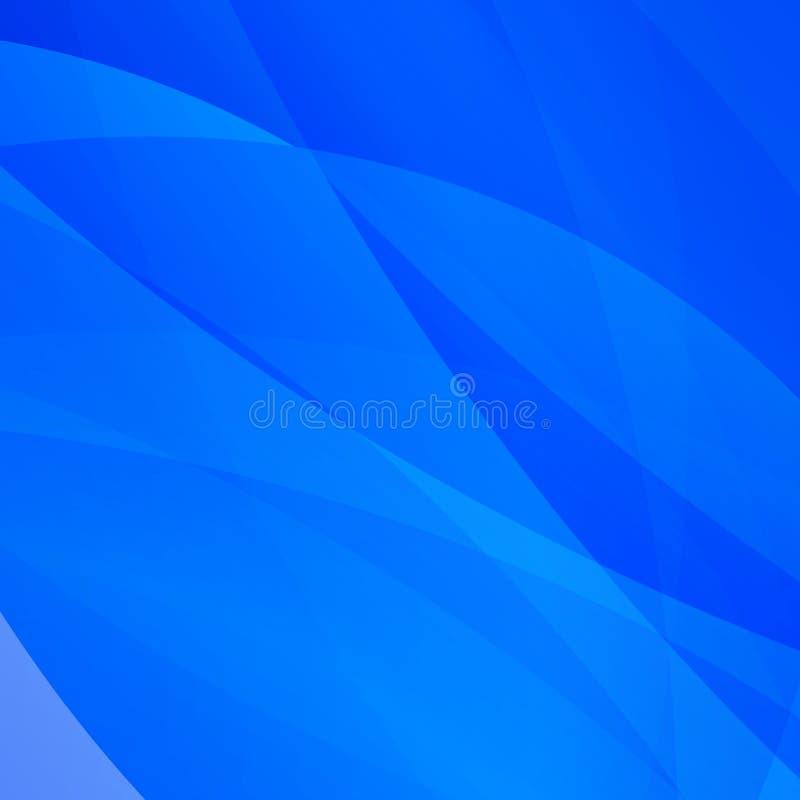 Abstracte heldere blauwe achtergrond met witte lijnen vector illustratie