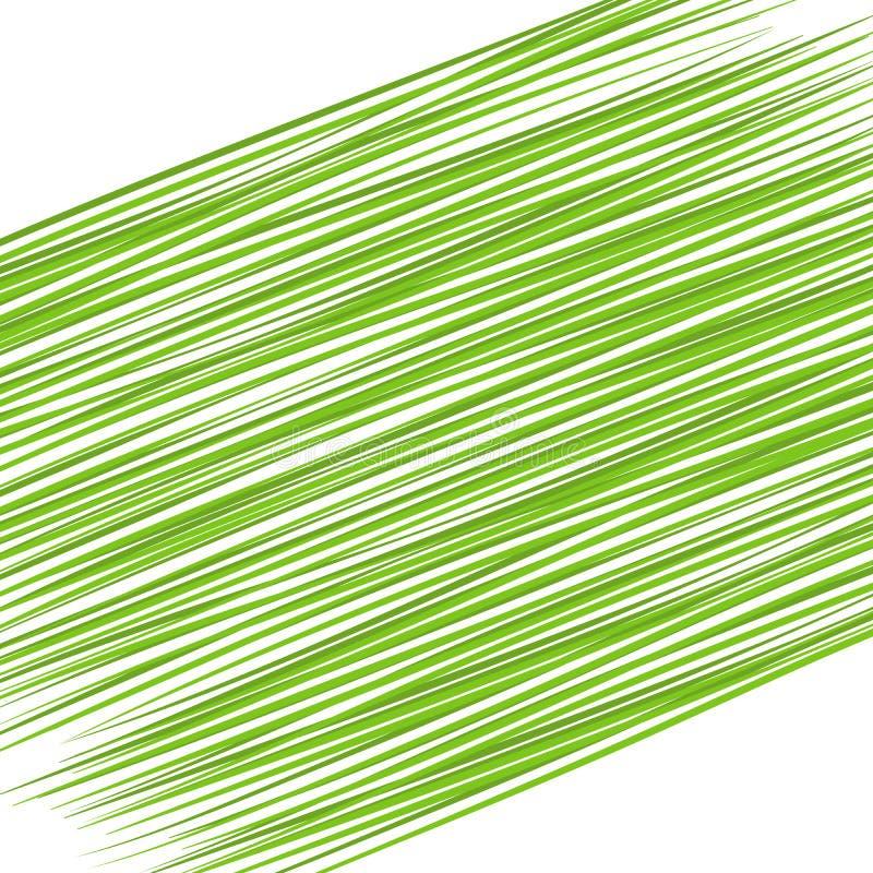Abstracte heldere Diagonale grafische groene lijnen als achtergrond op witte Dynamische decoratief van het achtergrond Futuristis vector illustratie
