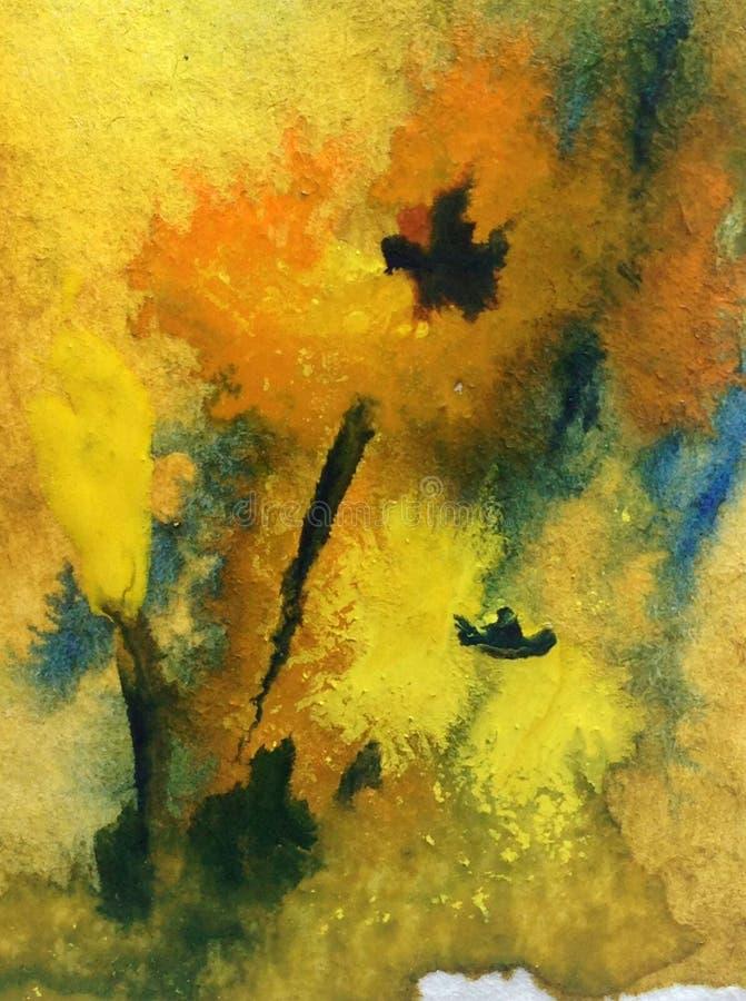Abstracte heldere gekleurde decoratieve achtergrond Bloemen met de hand gemaakt patroon Mooie tedere romantische magische brandbl royalty-vrije illustratie