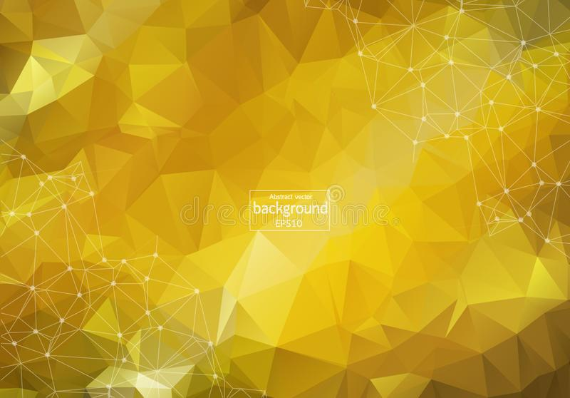 Abstracte heldere lage polytechnologie-achtergrond technologie en innovatieconcept royalty-vrije illustratie