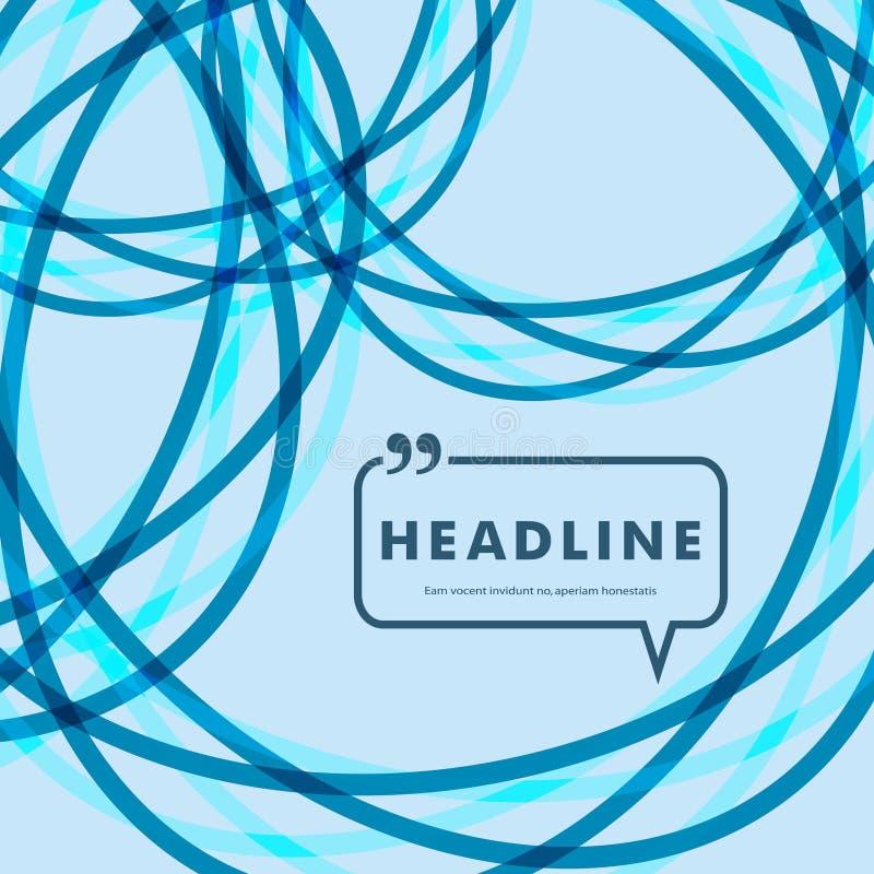 Abstracte heldere lijnen op een blauwe achtergrond stock illustratie