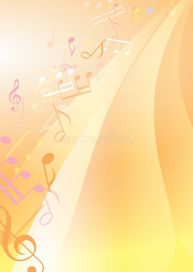 Abstracte heldere muzikale achtergrond royalty-vrije illustratie