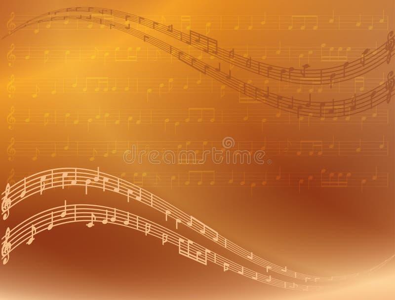 Abstracte heldere vectormuziekachtergrond royalty-vrije illustratie