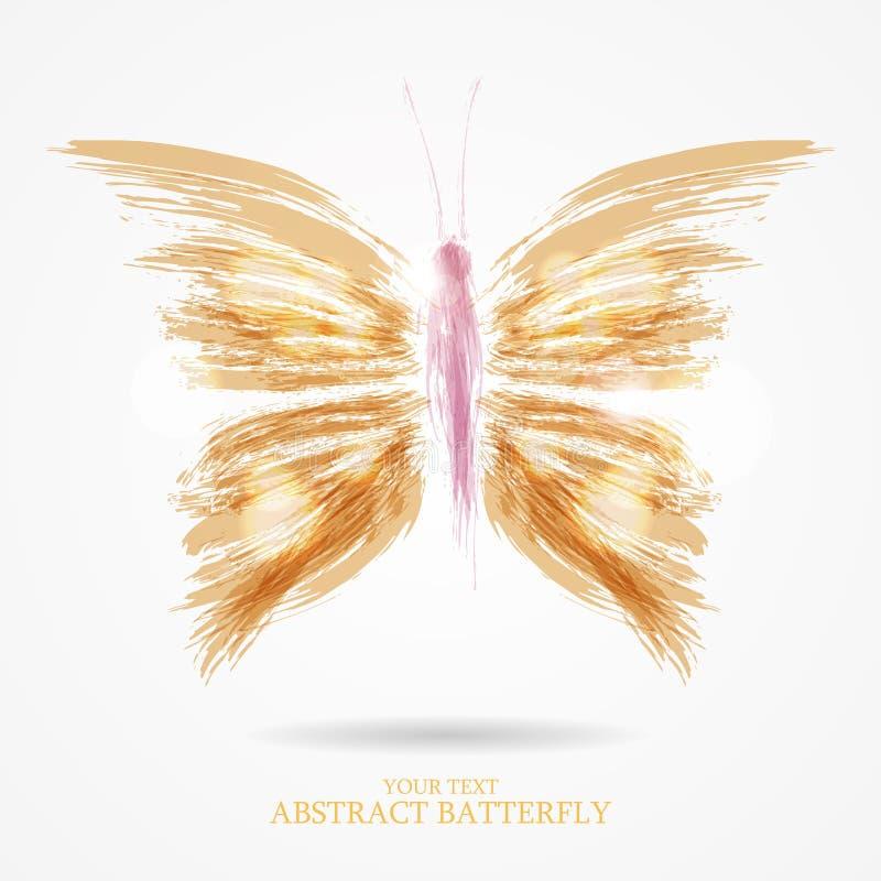 Abstracte heldere vlinder royalty-vrije stock foto's