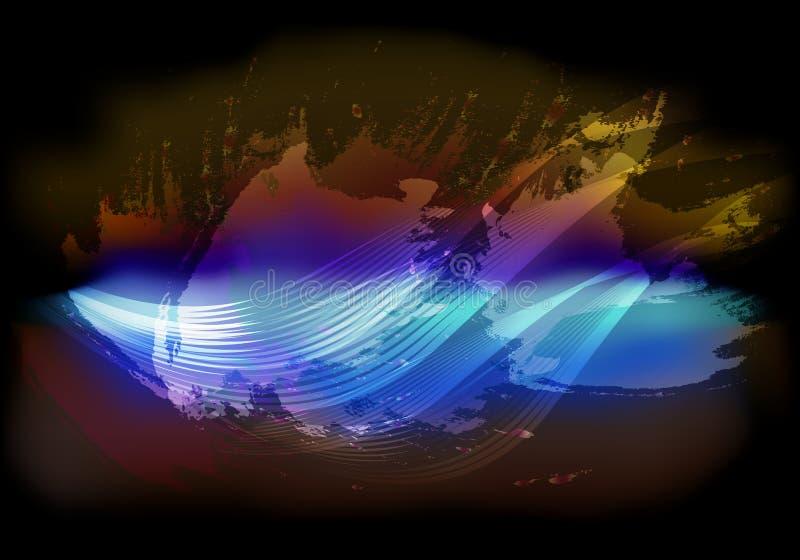 Abstracte hemelachtergrond met vliegende wolken stock illustratie