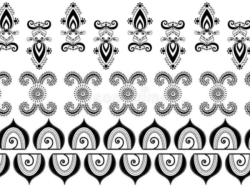 Abstracte hennagrenzen vector illustratie