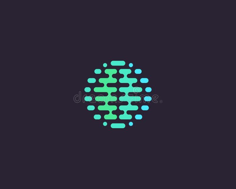 Abstracte hersenenplaneet logotype Pictogram van het het idee het vectorembleem van de kleurenbol vector illustratie