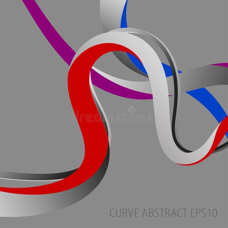 Abstracte het behangachtergronden van krommekleuren stock illustratie