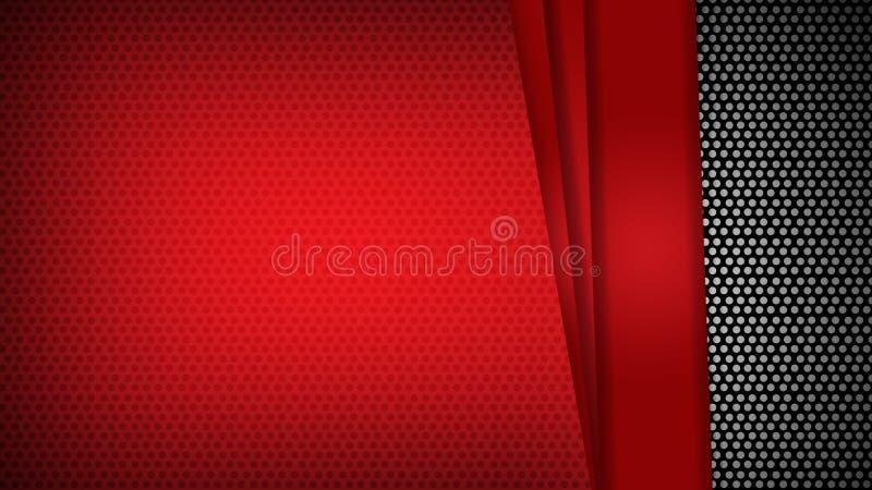 Abstracte het contrast zwarte achtergrond van malplaatje rode geometrische driehoeken U kunt voor collectief ontwerp, dekkingsbro vector illustratie