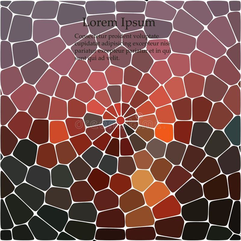 Abstracte het herhalen geometrische achtergrond met chaotische textuur Onregelmatig patroon van blokken vector illustratie