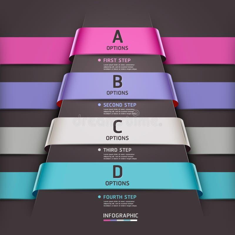 Abstracte het lintstijl van het infographicsmalplaatje. royalty-vrije illustratie