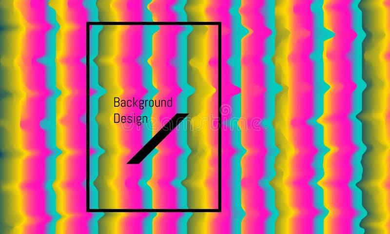 Abstracte het mengselgolf van de verticlerechthoek kleurrijk mooi ontwerp als achtergrond Vector illustratie EPS10 stock illustratie