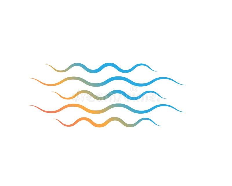 Abstracte het ontwerpachtergrond van de Watergolf vector illustratie