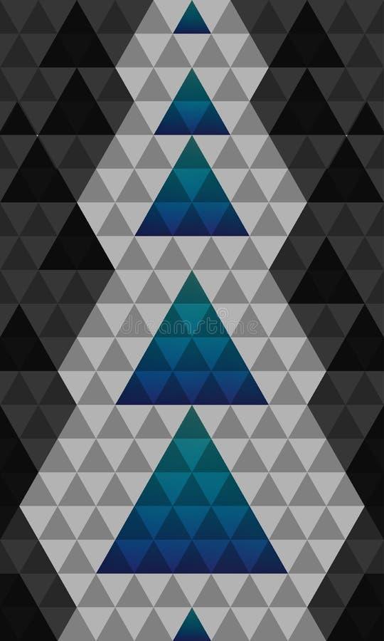 Abstracte het patroonachtergrond van de driehoekenkerstboom vector illustratie