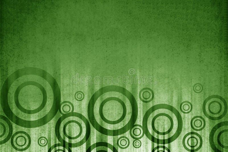 Abstracte het patroonachtergrond van de kunst grunge groene cirkel royalty-vrije illustratie