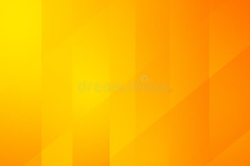 Abstracte het patroonachtergrond van de kunst oranje en gele kleur royalty-vrije illustratie