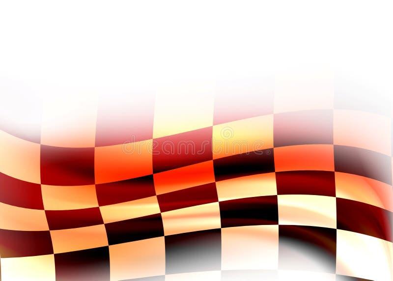 Abstracte het rennen vlag royalty-vrije illustratie