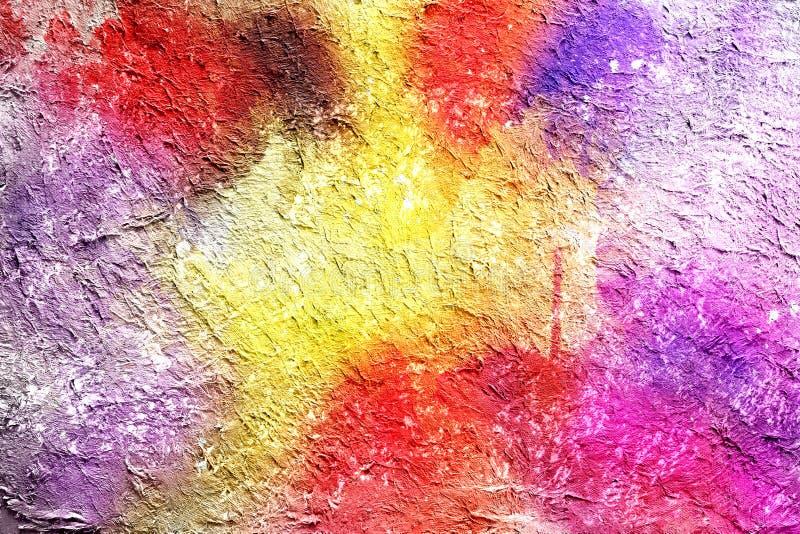 Abstracte het schilderen getrokken waterverfachtergrond door digitale borsteltechniek, behang met volledige de kleurentextuur van stock fotografie