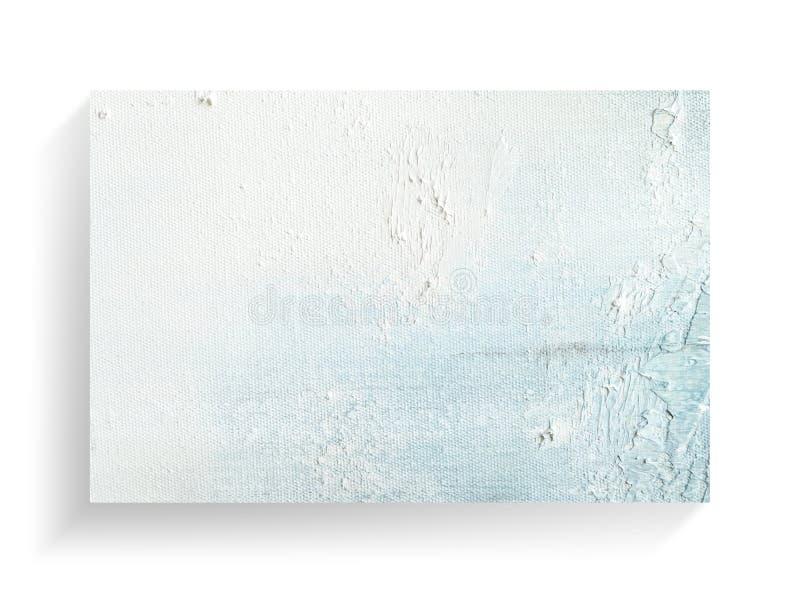 Abstracte het schilderen kunst op de achtergrond van de canvastextuur Het beeld van de close-up stock afbeeldingen