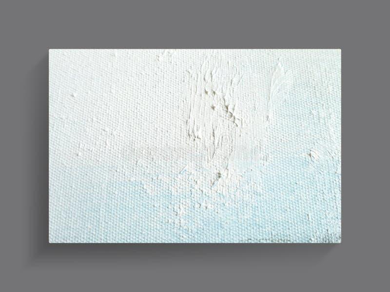 Abstracte het schilderen kunst op de achtergrond van de canvastextuur Het beeld van de close-up stock afbeelding