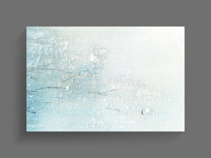 Abstracte het schilderen kunst op de achtergrond van de canvastextuur Het beeld van de close-up stock fotografie