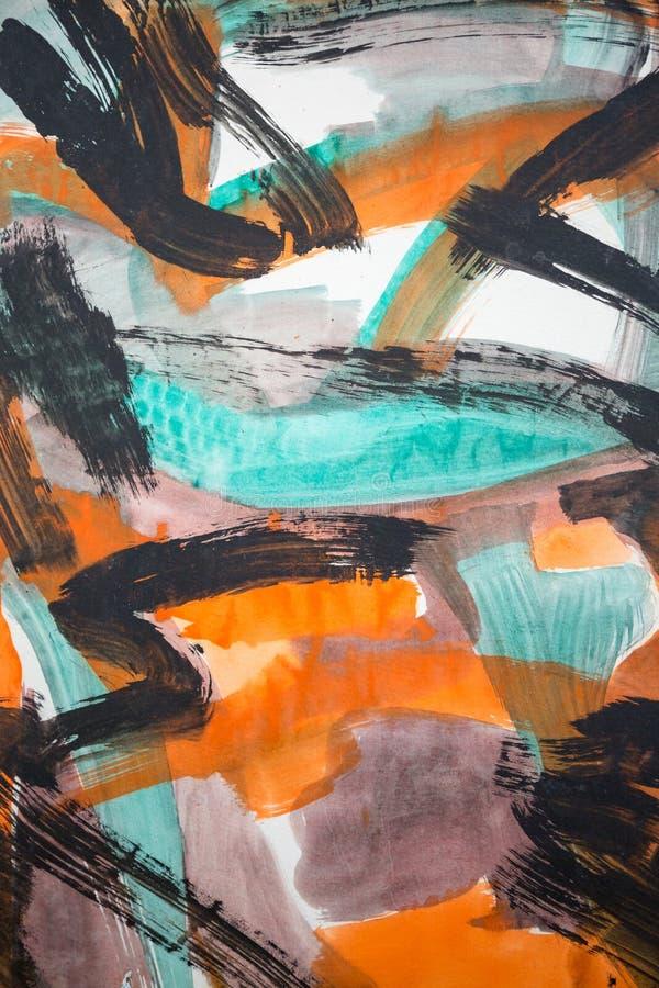 Abstracte het Schilderen Kunst: Slagen met Verschillende Kleurenpatronen lik stock illustratie