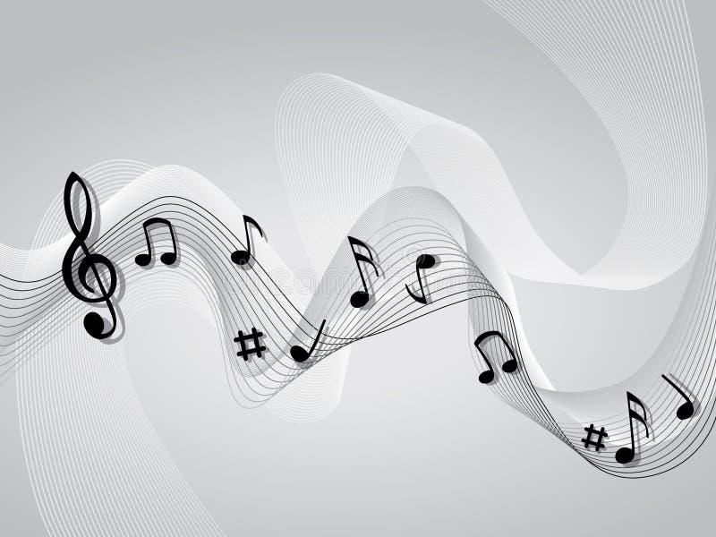 Abstracte het themaachtergrond van de muziekmuziek royalty-vrije illustratie