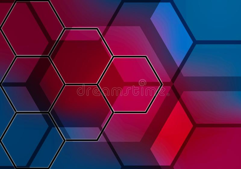 Abstracte hexagonale achtergrond colorfull stock illustratie