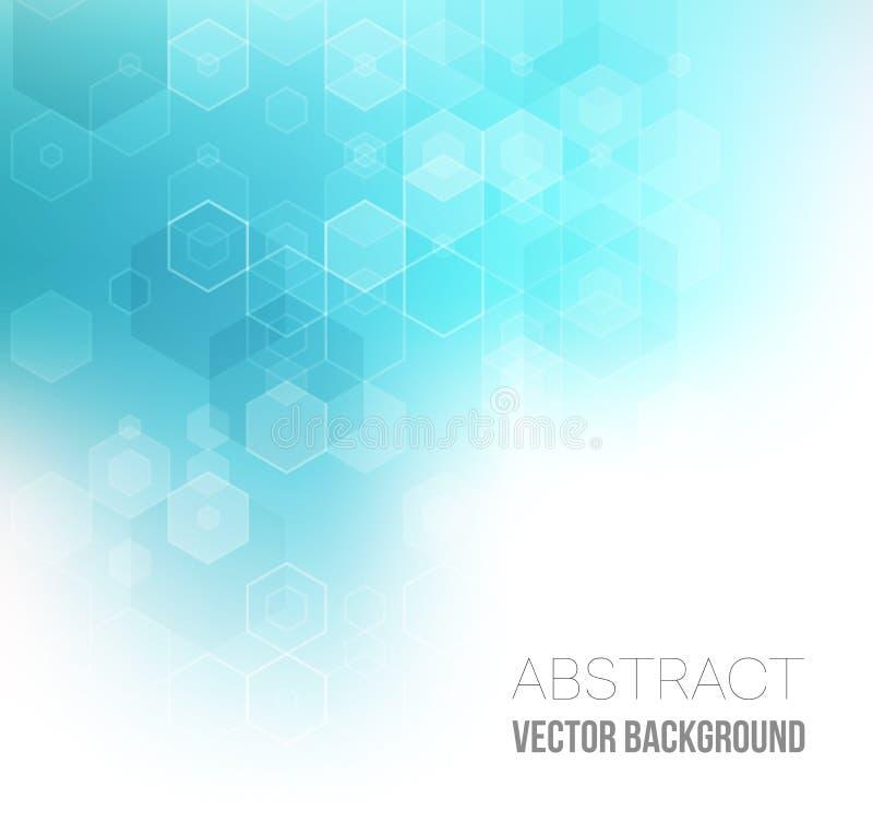 Abstracte hexagonale achtergrond Vector royalty-vrije stock foto's
