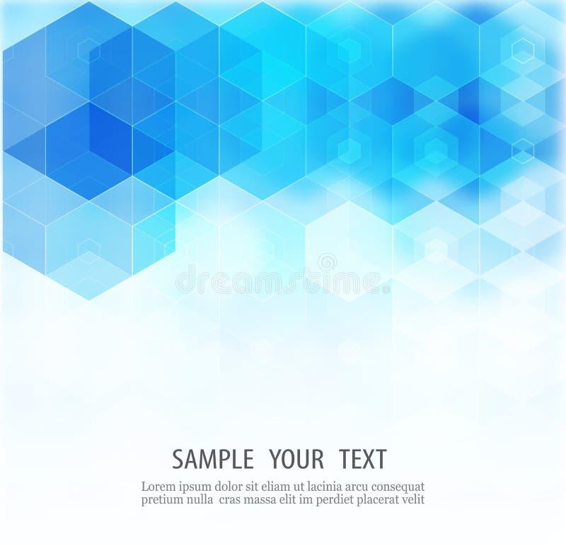 Abstracte hexagonale achtergrond Vector Malplaatjeontwerp voor wetenschap of technologiepresentatie stock illustratie
