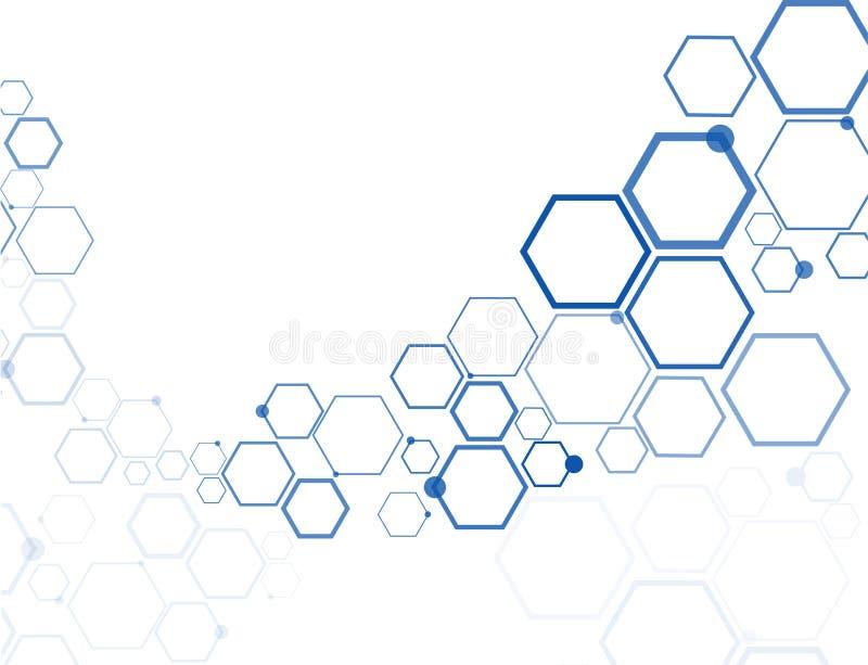 Abstracte hexagonale structuren stock illustratie