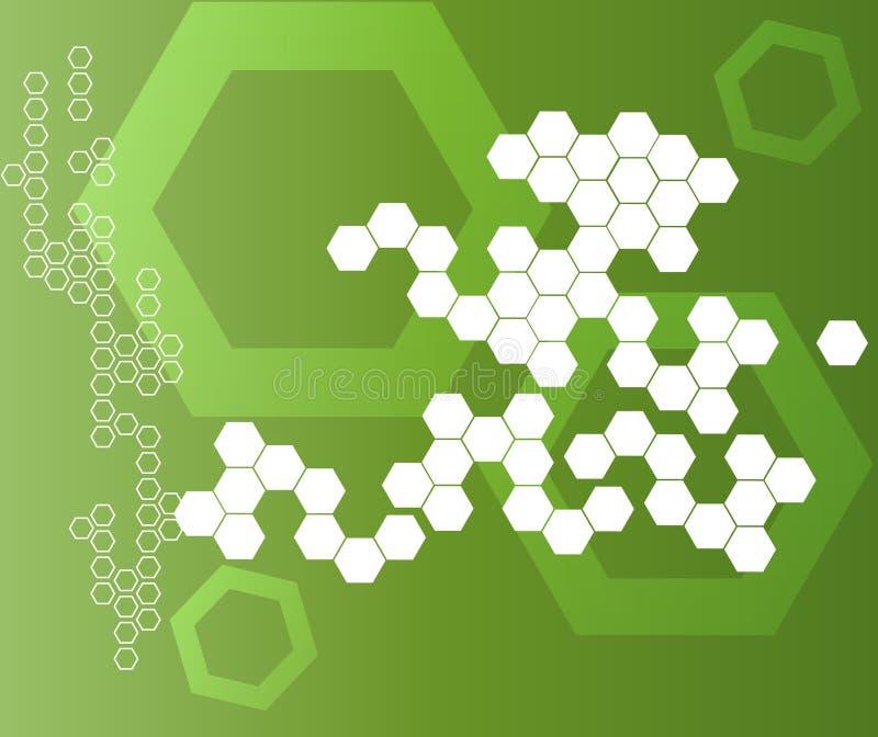Abstracte Hexagonale Vormenachtergrond stock foto