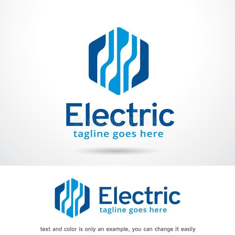 Abstracte Hexuitdraai Elektrisch Logo Template Design Vector stock illustratie