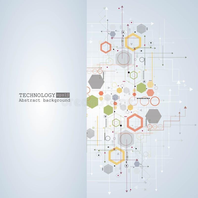 Abstracte hi-tech, techniek, machine, technologieconcept Vector abstracte futuristische technologieachtergrond royalty-vrije illustratie