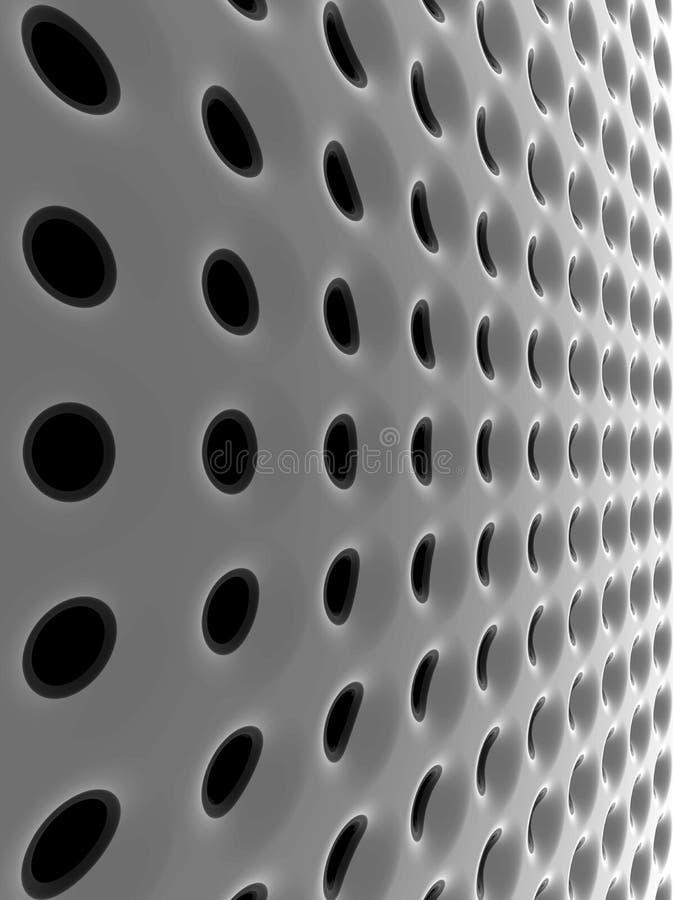 Abstracte high-tech netwerkstructuur royalty-vrije illustratie