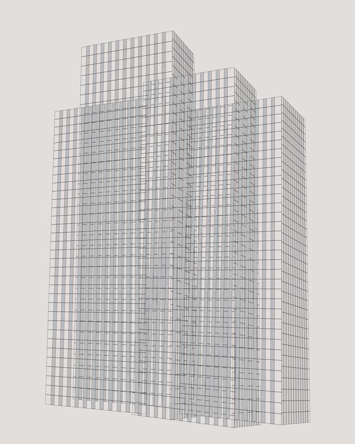 Abstracte hoge gebouwen vector illustratie