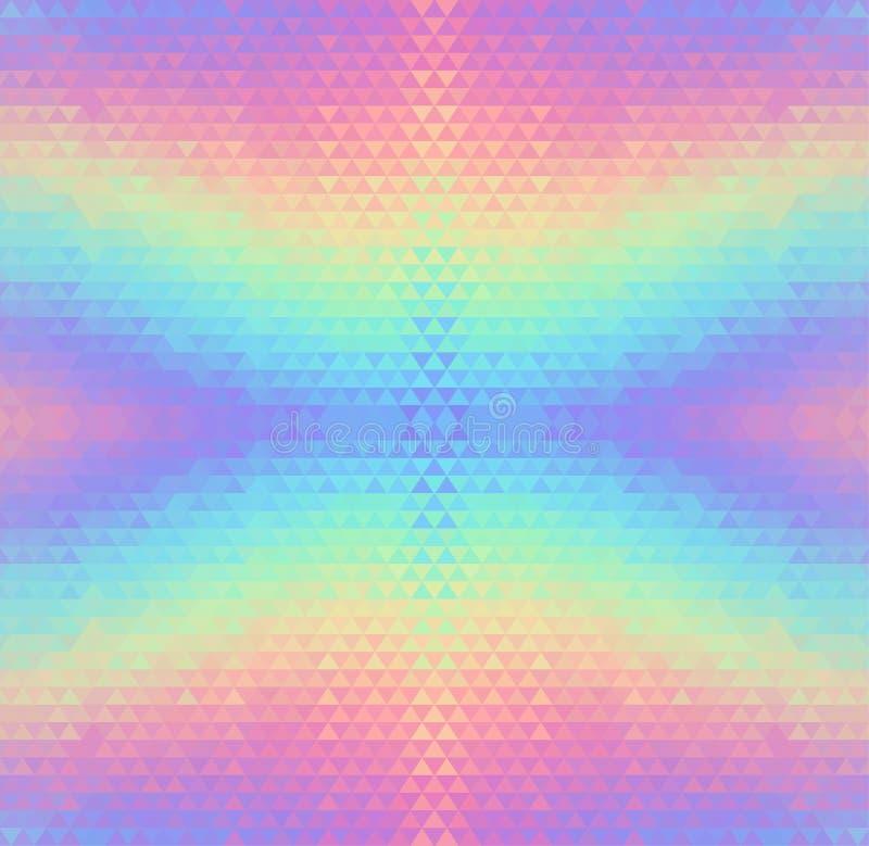 Abstracte holografische vector naadloze achtergrond stock illustratie