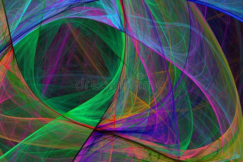 Abstracte Hoogte - de Gloeiende Achtergrond van technologie vector illustratie