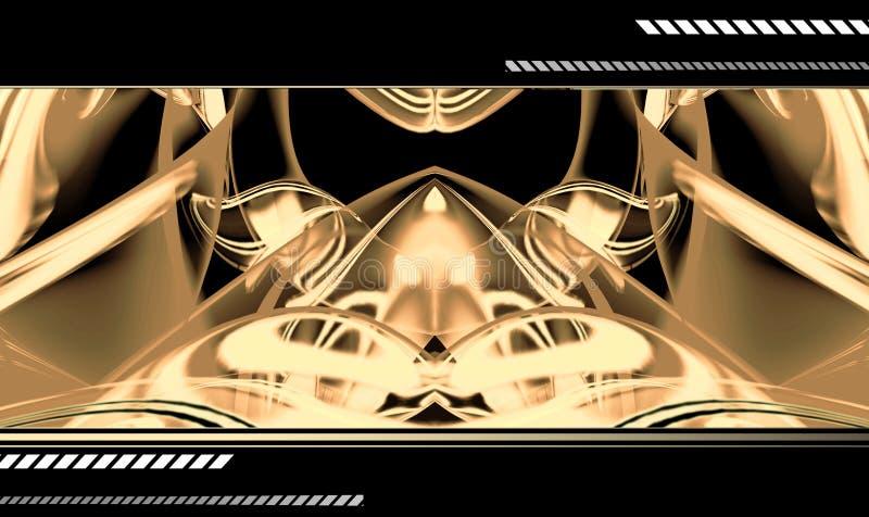 Abstracte hoogte - technologieachtergrond vector illustratie