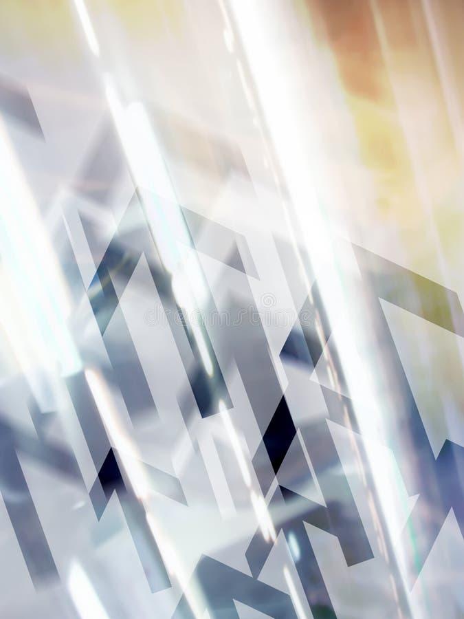 Abstracte hoogte - technologieachtergrond stock illustratie