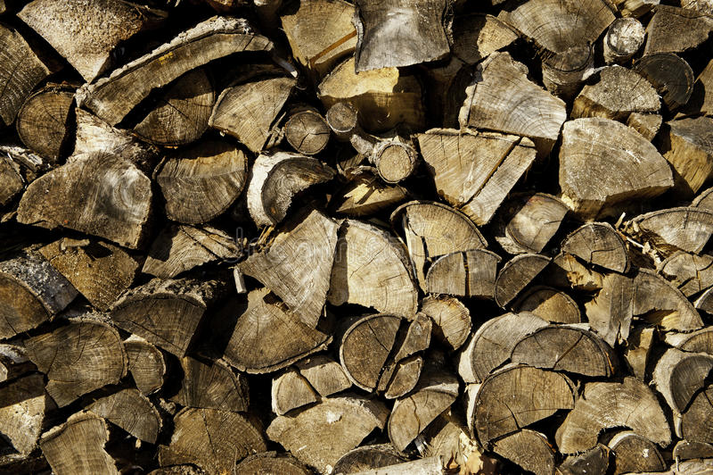 Abstracte houten stapel stock foto